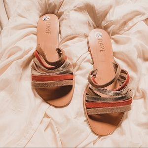 raye sophie leather strappy slide on sandals